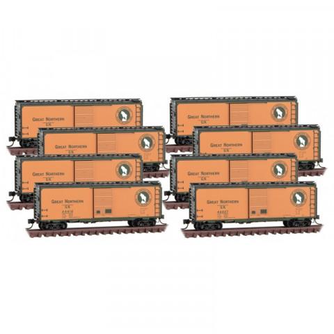 Micro-Trains N - Vagões Fechados de 40' (Box Car), 8-pack: 993 00 820