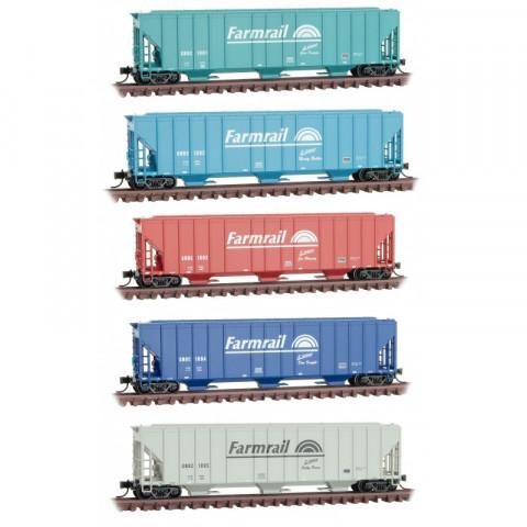 Micro-Trains N - Vagões Hopper, Farmrail - Set com 5: 993 02 140