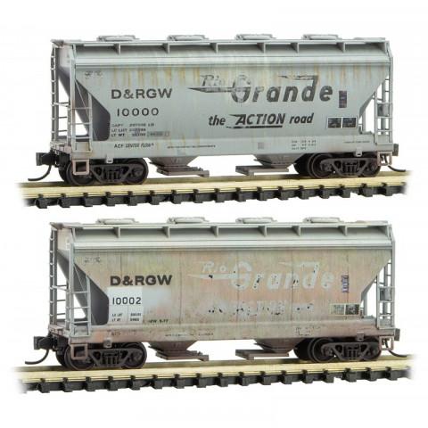 Micro-Trains N - Vagões Hopper DRGW, Envelhecidos: 993 05 590
