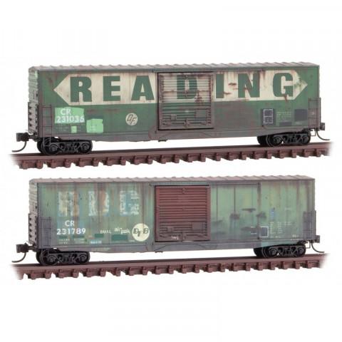 Micro-Trains N - Vagões Fechados, Envelhecidos - Set com 2: 993 05 860