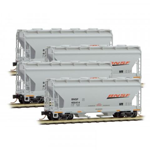 Micro-Trains N - Vagões Hopper, BNSF - Set com 4