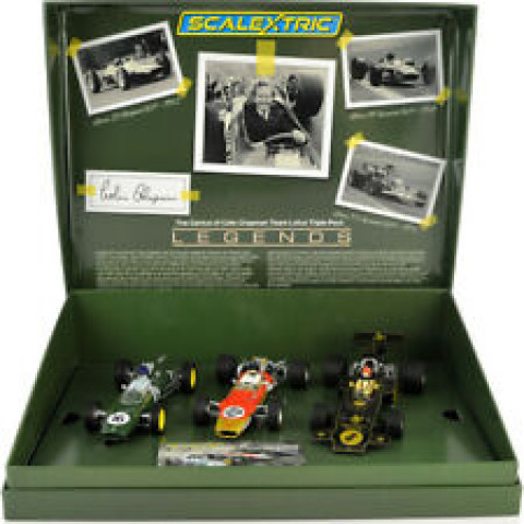 Scalextric - Set Lotus GP Triple Pack - The Genius of Colin Chapman C4184a