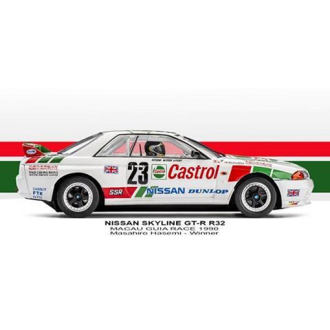 Slot.it - Nissan Skyline GT-R - 1st Macau 1990 #23 CA47a
