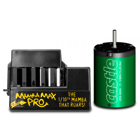 Castle - Mamba Max Pro ESC + 1406-4600Kv - 1:10: 010-0066-06