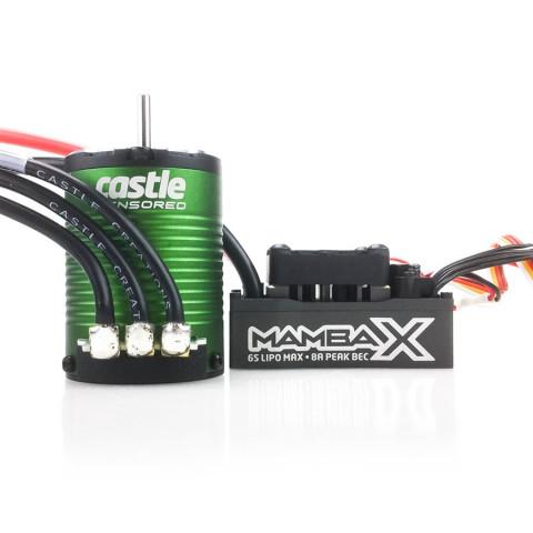 Castle - Mamba X: ESC + Motor Sensored 1406-4600Kv - 1/10: 010-0155-01