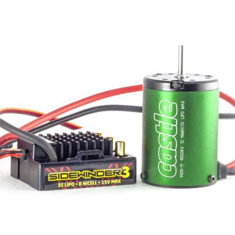 Castle - SideWinder 3: Motor + ESC: 1406-4600Kv - 1:10