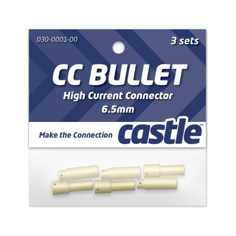 "Castle - CC Bullet 6.5 mm - 3 Sets Conector ""High Current"""
