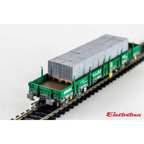 Electrotren HO - Vagão Plataforma tipo Rmms, carregado: RENFE - E5192