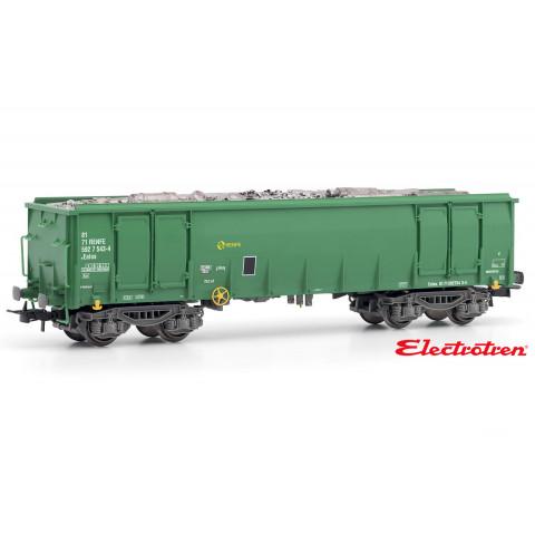 Electrotren HO - Vagão Gondola, tipo Ealos, carregado com Sucata, RENFE - E5387