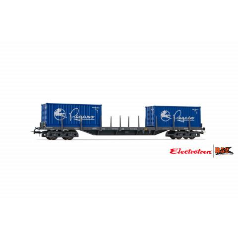 Electrotren HO - Vagão de 4 eixos para Contêiner, RENFE: E6547