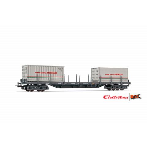 Electrotren HO - Vagão de 4 eixos para Contêiner, RENFE: E6548