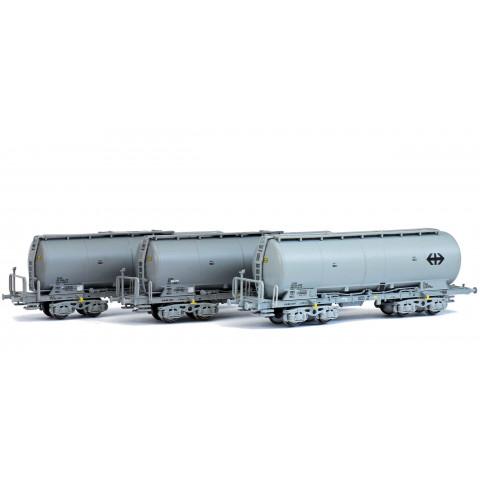 Hobbytrain / Lemke - 3 Vagões Silo, SBB (N): H23480