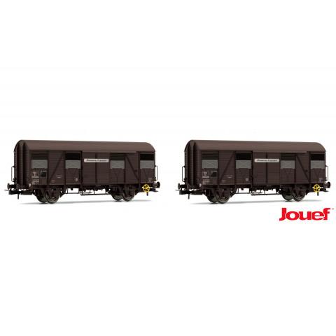 """Jouef HO - Vagões Fechados G4, set com 2, """"Provence Espress"""": SNCF - HJ6153"""