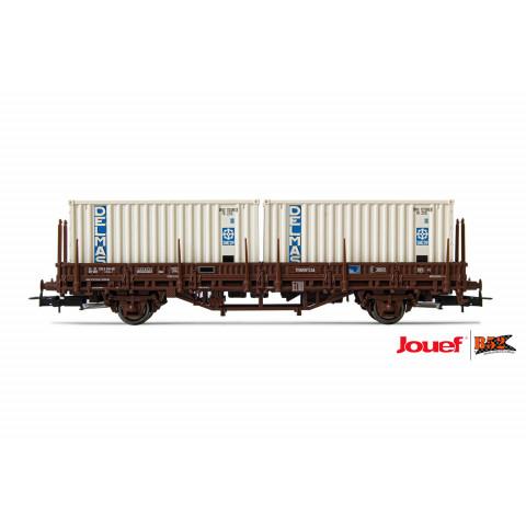 Jouef HO - Vagão Plataforma Lgs de 2 eixos, SNCF: HJ6175