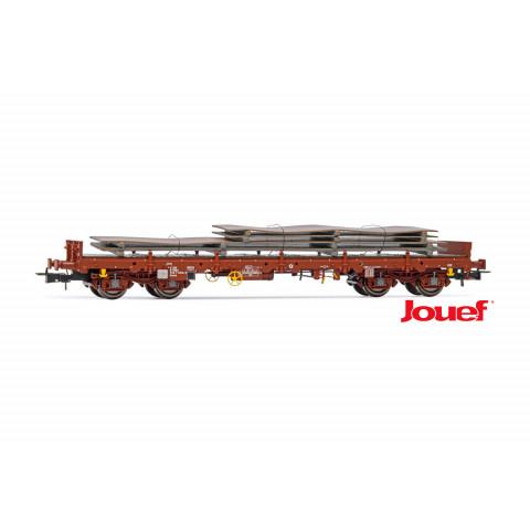 Jouef HO - Vagão Plataforma Remms de 4 eixos, SNCF: HJ6176