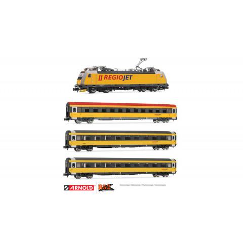 Arnold N - Composição de Locomotiva e 3 Carros, RegioJet: HN2499