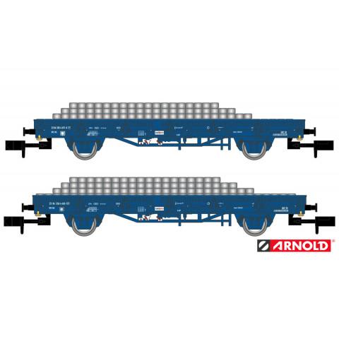 Arnold N - Par de Vagões Flat carregados, NS - HN6401