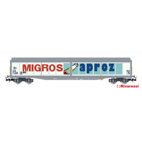 "Rivarossi HO - Vagão ""Sliding-Wall"" de 4 eixos, SBB: HR6419"