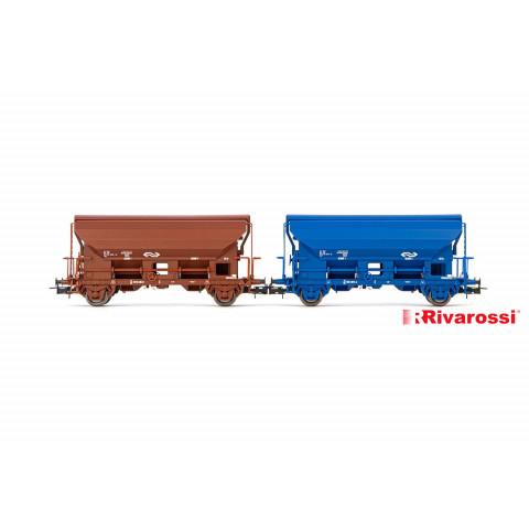 Rivarossi HO - Vagões de Descarga Automática, set com 2, NS: HR6432