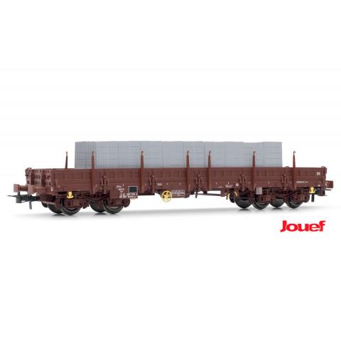 Jouef HO - Vagão Plataforma, com carga de blocos: SNCF - HJ6151