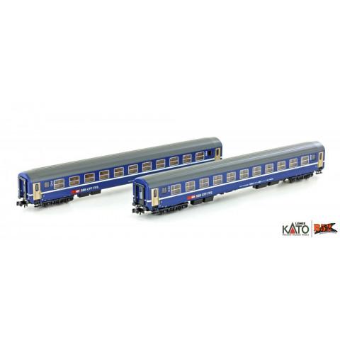 Kato / Lemke (N) - Carros de Passageiros SBB RIC Coaches: K23010