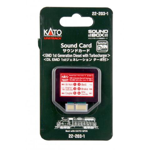 """Kato – Cartão para """"Sound Box"""": 1ª Geração EMD Diesel – 22-203-1"""