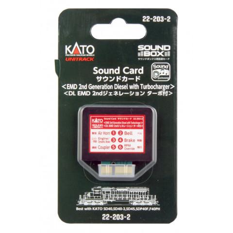 """Kato – Cartão para """"Sound Box"""": 2ª Geração EMD Diesel – 22-203-2"""
