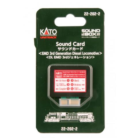 """Kato – Cartão para """"Sound Box"""": 3ª Geração EMD Diesel – 22-202-2"""