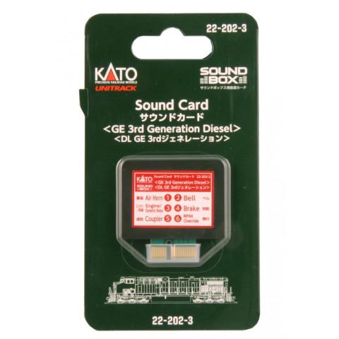 """Kato – Cartão para """"Sound Box"""": 3ª Geração GE Diesel – 22-202-3"""