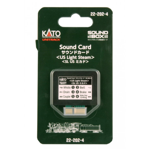 "Kato – Cartão para ""Sound Box"": US Light Steam – 22-202-4"