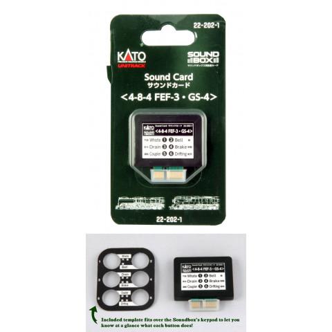 """Kato – Cartão para """"Sound Box"""": Vapor FEF-3 e SP GS-4 – 22-202-1"""