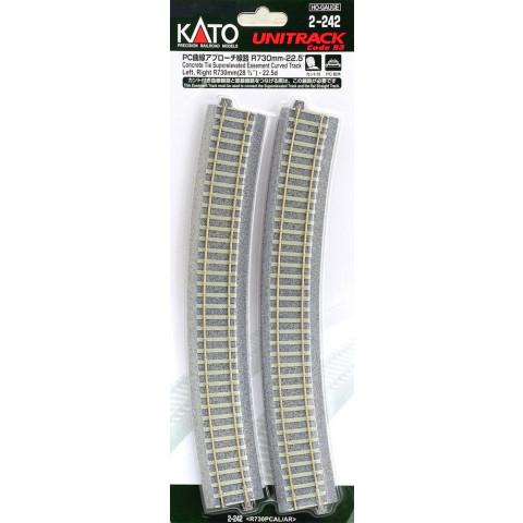 """Kato HO - Trilho Curva de Transição """"C. Tie"""" - R730: 2-242"""
