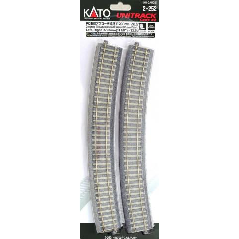 """Kato HO - Trilho Curva de Transição """"C. Tie"""" - R790: 2-252"""