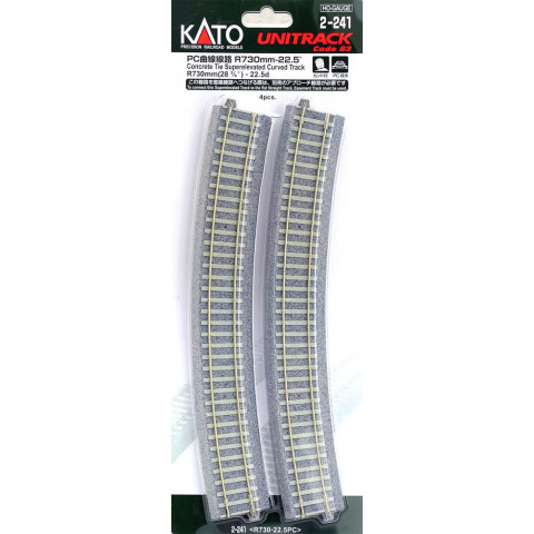 "Kato HO - Trilho Curva Inclinada  ""C. Tie"" - R730: 2-241"