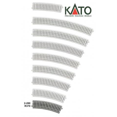 Kato HO - Trilho Curva - R370, 22,5°: 2-280