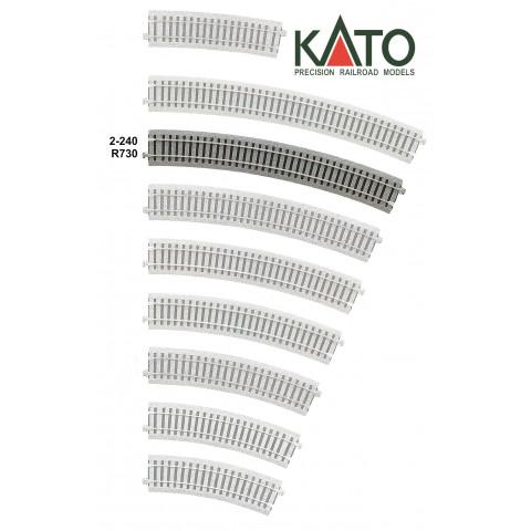 Kato HO - Trilho Curva - R730, 22,5°: 2-240