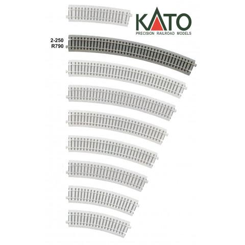 Kato HO - Trilho Curva - R790, 22,5°: 2-250