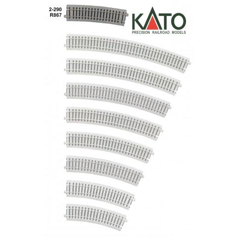 Kato HO - Trilho Curva - R867, 10,0°: 2-290