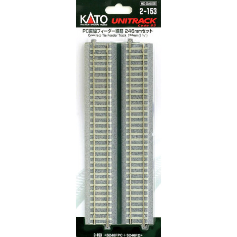 "Kato HO - Trilho ""Feeder, Concrete Tie"" - 246 mm: 2-153"