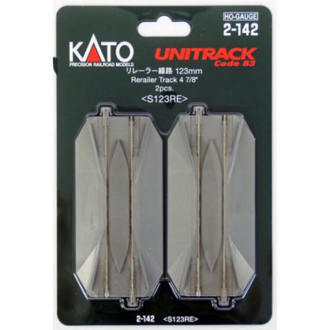 "Kato HO - Trilho Reta ""Road Crossing + Rerailer Track"": 2-142"