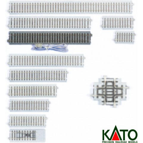Kato HO - Trilho Reto - 246 mm - Alimentação: 2-151