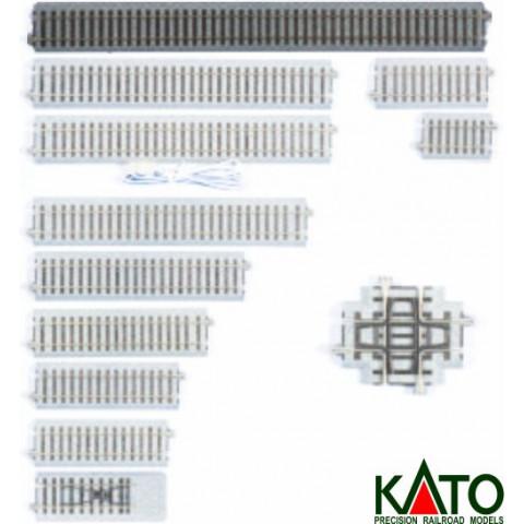 Kato HO - Trilho Reto - 369 mm: 2-180