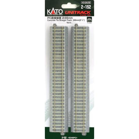 """Kato HO - Trilho Reto """"Concrete Tie"""" - 246 mm: 2-152"""