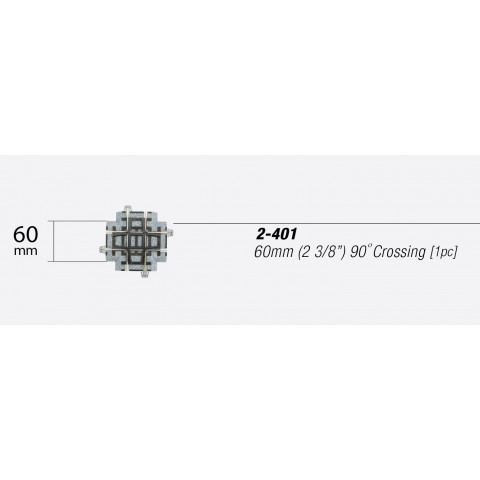 Kato HO - Trilho Reto - Cruzamento 90°: 2-401