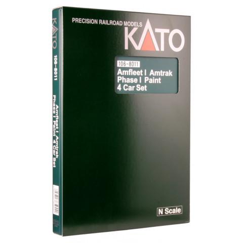 Kato N - Amtrak, Amfleet I Phase I, 4 Unit Set - 106-8011