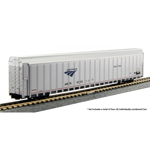 "Kato N - Amtrak Autorack ""Auto Train"", 4 Car Set: 106-5502"