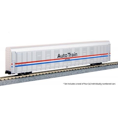 "Kato N - Amtrak Autorack ""Auto Train"" Phase III, 4 Car Set #1: 106-5507"