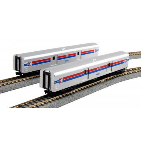 Kato N - Amtrak Baggage Car Phase I - 2 Car Set: 106-3512