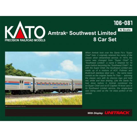 Kato N - Amtrak Southwest Limited 8 Car Set: 106-081