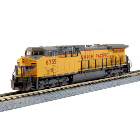 "Kato N - Locomotiva GE AC4400CW Union Pacific ""lightning bolt"" #6735: 176-7038"